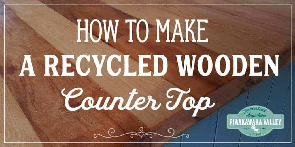 DIY Recycled Wooden Countertop