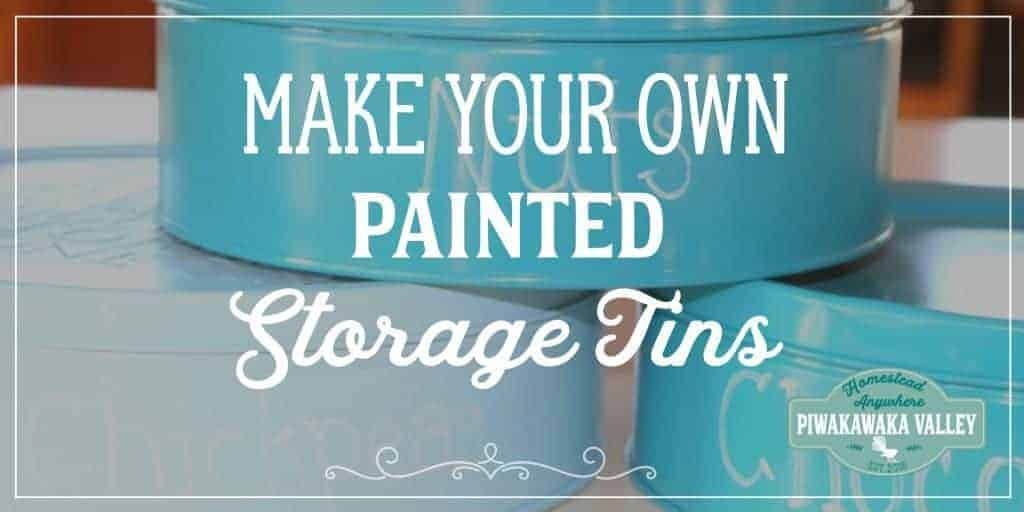 How to pretty-up tins for storage.