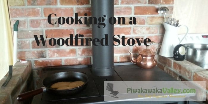 Using our wood fired stove