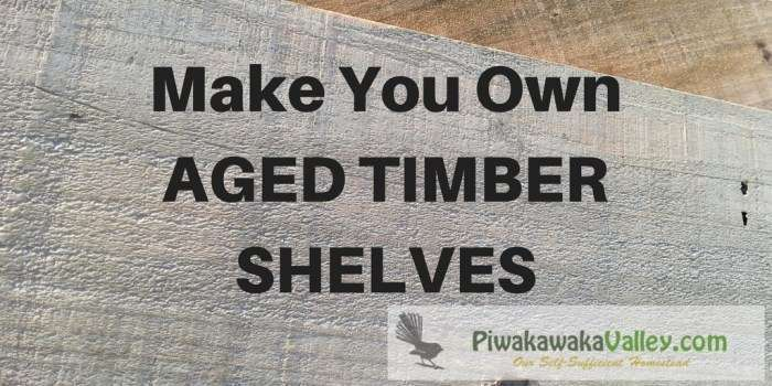 Make Your Own Aged Timber Shelves