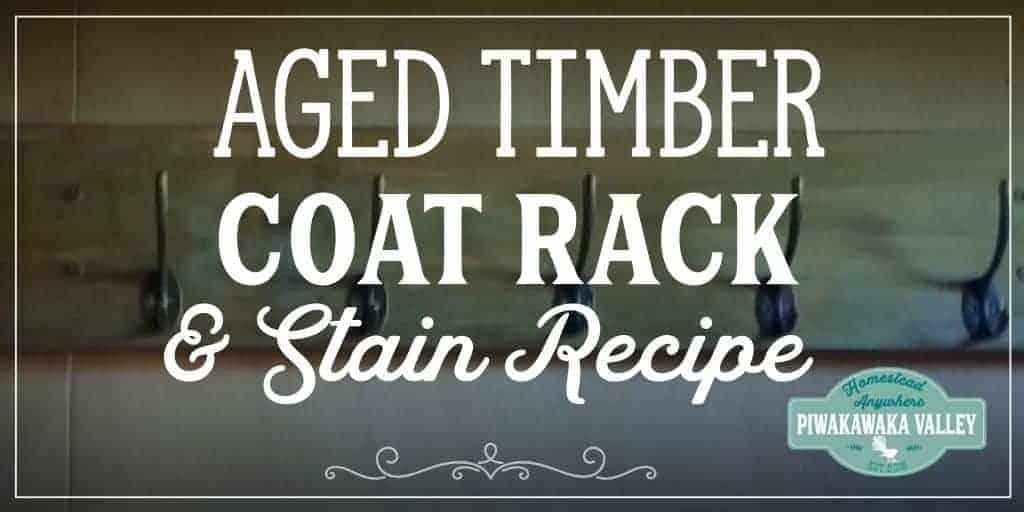 DIY Aged Pine Coat Rack