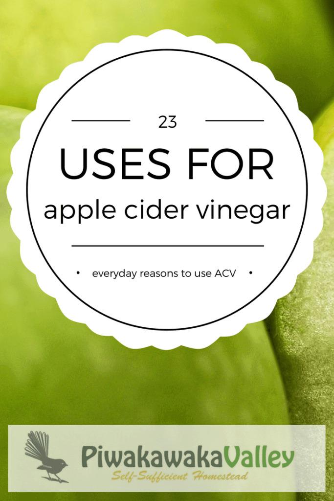 23 uses for apple cider vinegar