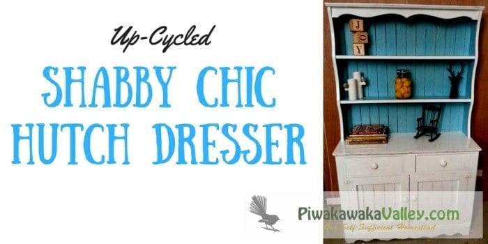 Look at this shabby chic hutch dresser! It has been upcycled to a cute country styled sideboard. Rustic.