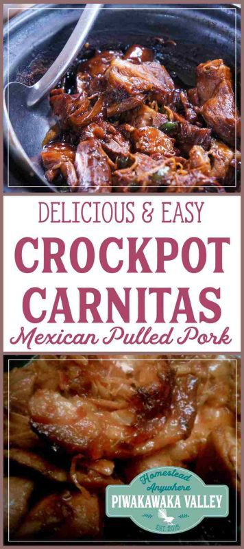 We love Mexican food! These crockpot carnitas are super duper quick to throw together, and is soooo delicious. You can use the same recipe to make chicken carnitas too. Try it tonight or save it for later! #recipe #mexican #crockpot #slowcooker #pork