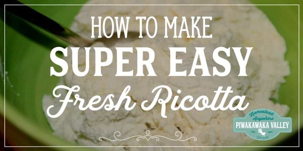 Not sure what to do with your leftover whey? Don't throw it out! Make this super easy fresh ricotta with it! #recipe