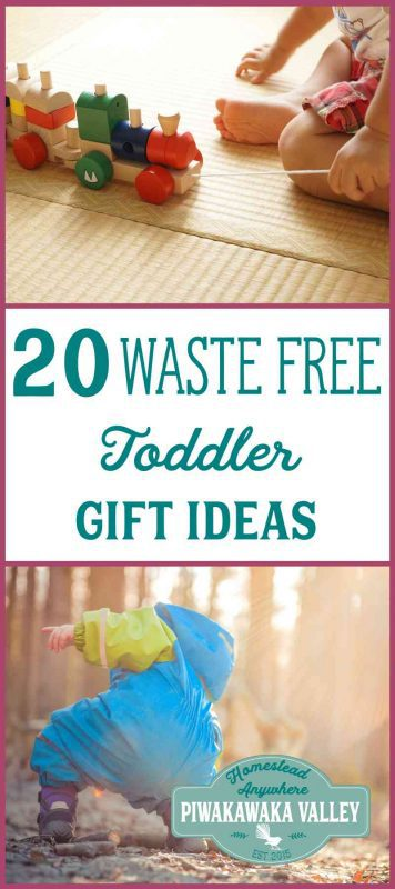 Buying a gift for a toddler can be waste free, plastic free or eco friendly. Here are the top 20 toddler gift ideas in a nice big round up just for you. Pin it to save for when you need it!