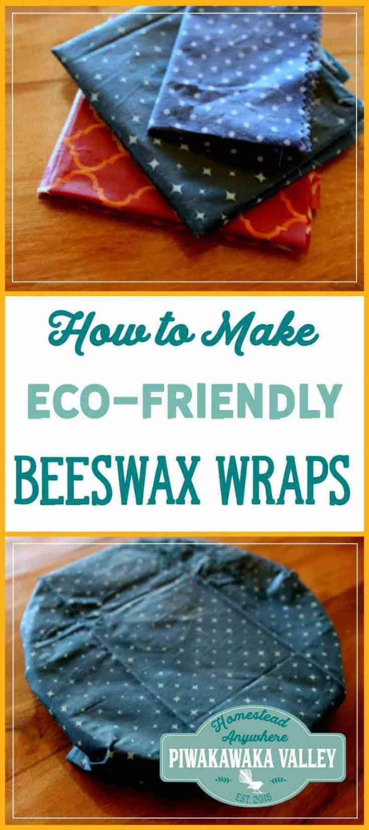 Make your own beeswax wraps as an eco-friendly alternative to clingfilm or plastic wrap. This recipe uses jojoba oil and beeswax to make a nice clingy wrap. how to make beeswax wraps, diy, make at home, zero waste kitchen