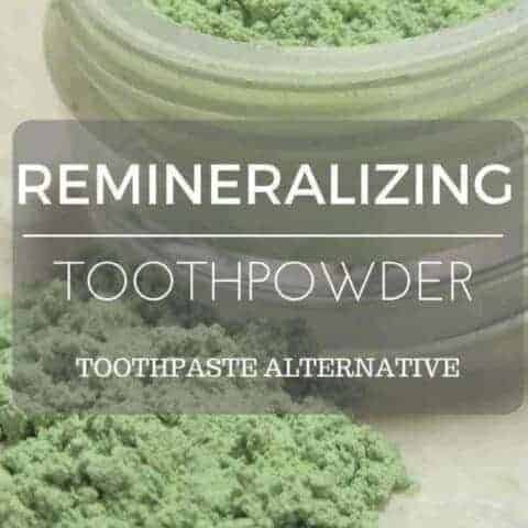 A recipe for toothpowder, and alternative to toothpaste
