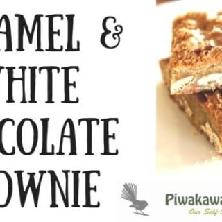 quick and delicious Caramel & White Chocolate Brownie