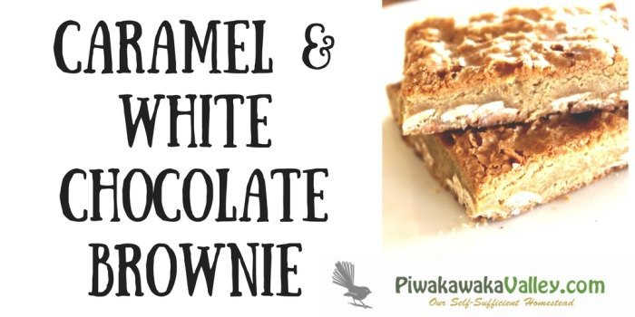 Caramel and White Chocolate Brownie (Blondie) Gluten free (or not)