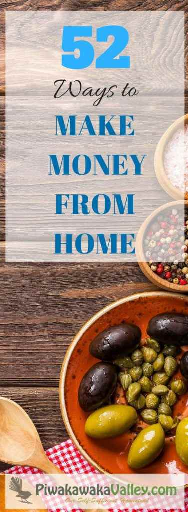 Here are some different ways to make money from home especially if you have a backyard that you can use as well. Make Money Homesteading