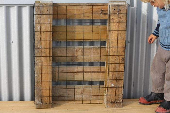 How to Make a J Feeder and Hay Rack for your Rabbits or Chickens promo image