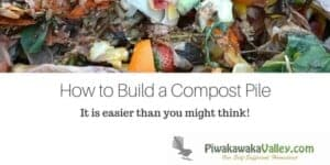 Building a compost pile is a necessary thing for your garden. Compost is very beneficial and it is a lot easier to get right than you might think! Find out how to do it today, or pin it for later!