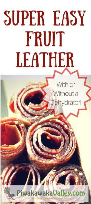 A natural treat for kids and adults alike. Fruit leather can be made in the oven with pretty much any fruit combination that you like. Here are instructions on making fruit leather both with and without a dehydrator.