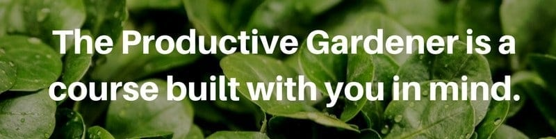 The Productive Gardener E course - learning how to garden for beginners. Beginners gardening course, easy gardening for when you have no time, gardening for busy people