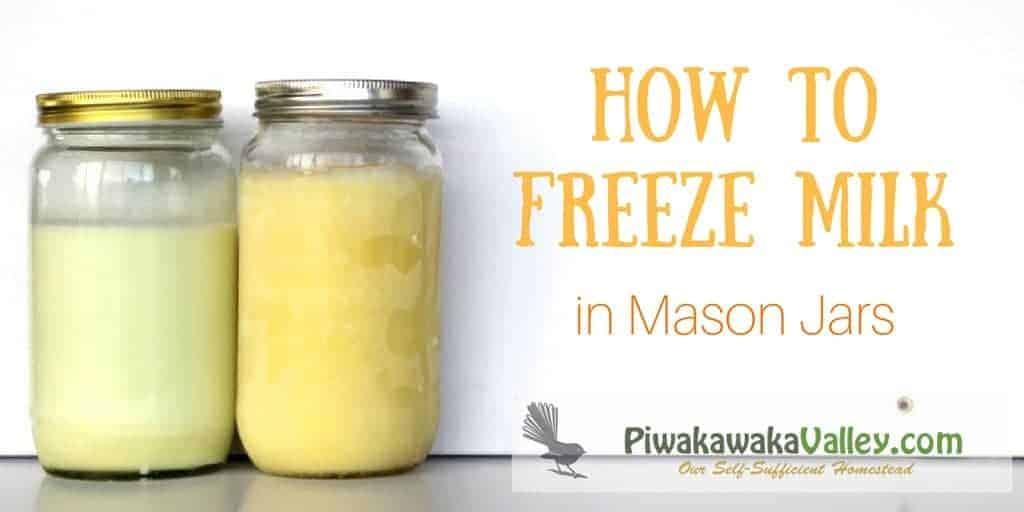 How to Freeze Milk in mason jars. freezing liquids in glass