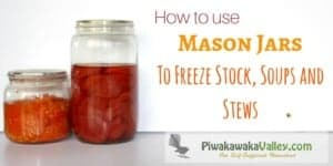 Freezing in glass is a fickle business. Let me show you how to freeze stock, soup, stew and milk in the freezer without breaking your mason jars!