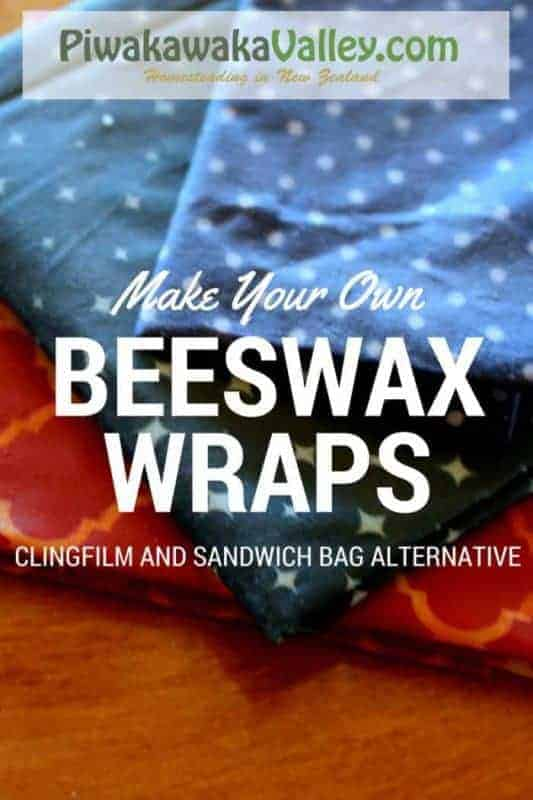 Make you own beeswax wraps an alternative to clingfilm or plastic wrap