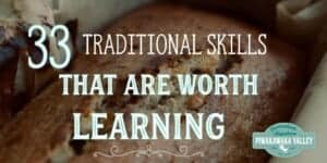 Are you keen to join the uprising of the return to traditional ways of life? These 33 traditional skills will help you on your road to self sufficiency.