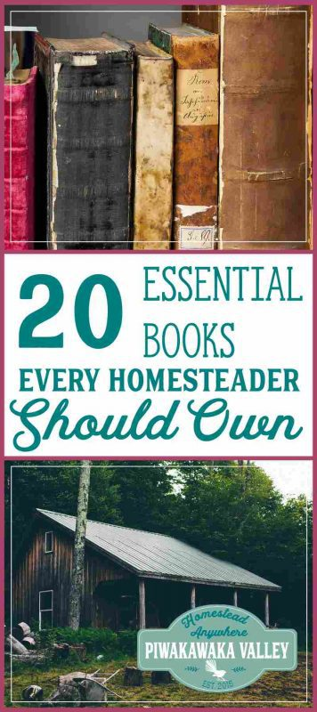 Here are the top 20 books every homesteader should own. I have a full bookshelf despite free resources on the internet. A library helps you be prepared for disasters, find out how here.