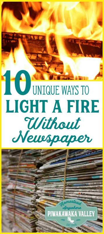Are you looking for a renewable, sustainable option for lighting your fire without using newspaper? Here are 10 unique options that you might not have thought of yet.