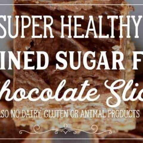 this chocolate slice is also Dairy Free, Gluten Free, Raw, LCHF, and Vegan. Even the frosting!! Like many of these sorts of recipes, you can swap out the seeds/nuts/fruit for what you have laying around.