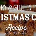 Is someone you know gluten free and or dairy free? Try this Gluten free dairy free christmas cake, it is moist and delicious and super simple and easy to make! #christmascake #fruitcake #recipe #christmas