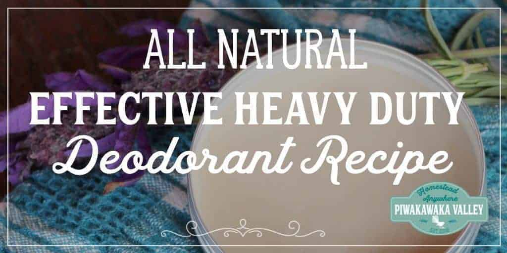 Effective All Natural Deodorant That You Can Make At Home