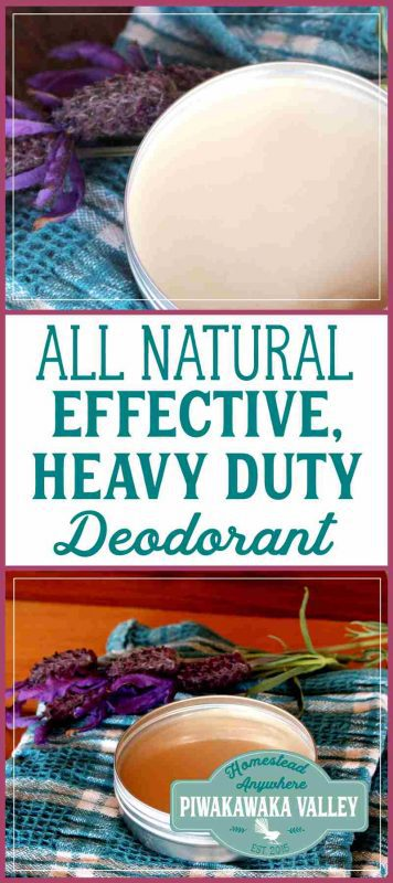 It has been a long time coming, but I finally have a recipe for an effective all natural deodorant for you that works really well. Actually, I have two! One is a simple, every day deodorant that will work well for most people, the second is a heavy duty natural deodorant that will calm even the toughest body odor. Both of these recipes contain baking soda, however, if you make it and you find the baking soda is irritating your pits, you can replace it with more tapioca starch. #diy #natural #bath #deodorant #homesteading