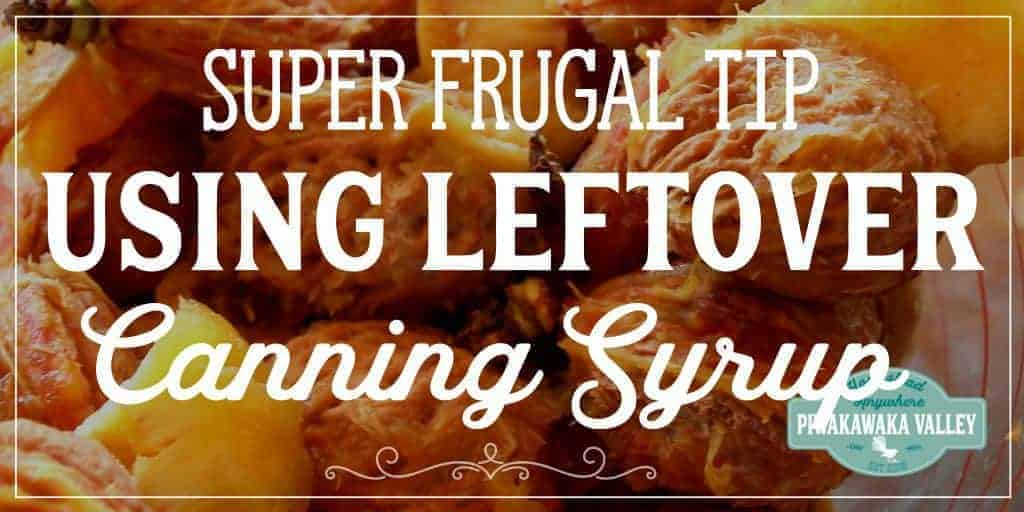 Frugal Fruit Vinegar – Using Up Leftover Canning Syrup