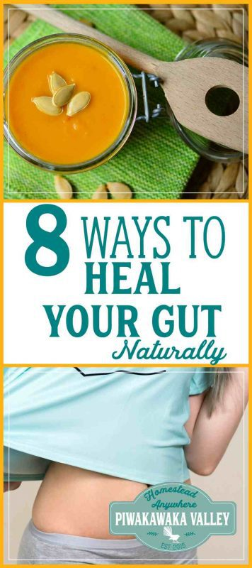 My husband has IBS and allergies and I have autoimmune issues. Here are the 8 things that I did in our household to improve our gut health and cure the digestive issues that we had. These natural methods have helped both of us! #naturalhelath #guthealth #probiotics