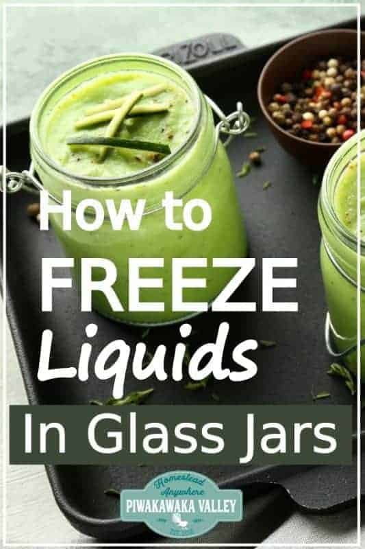 Do you make soups, stews or have extra milk to freeze? Are you looking for a zero waste, plastic free food storage solution for your kitchen? Here are two ways to freeze liquids without using plastic! Glass and silicone are both freezer safe waste free food storage option that you should try out! #zerowaste #plasticfree #foodstorage #piwakawakavalley