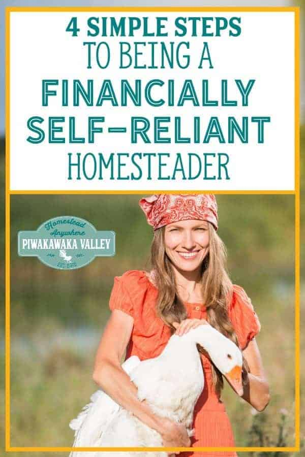 Don't let your financial situation be the only area of your life where you're not self-reliant. Build an emergency fund, pay off your debt, start a business, and stick to your budget to move steadily down the financial independence path. #piwakawakavalley #homesteading