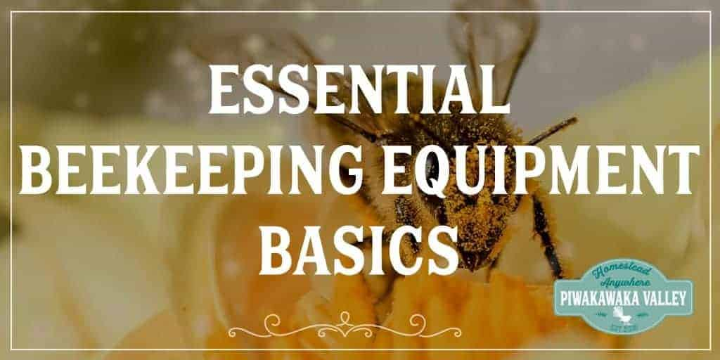 Essential Beekeeping Equipment Basics. If you are new to keeping bees, don't go crazy buying beekeeping equipment that you don't need! Here are the essentials. #keepingbees #beekeeping #piwakawakavalley #bees