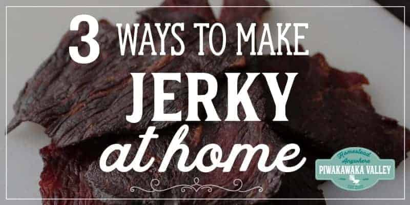 How to make beef or deer jerky at home in the oven, dehydrator or smoker with full instructions step by step and yummy recipe included #piwakawakavalley