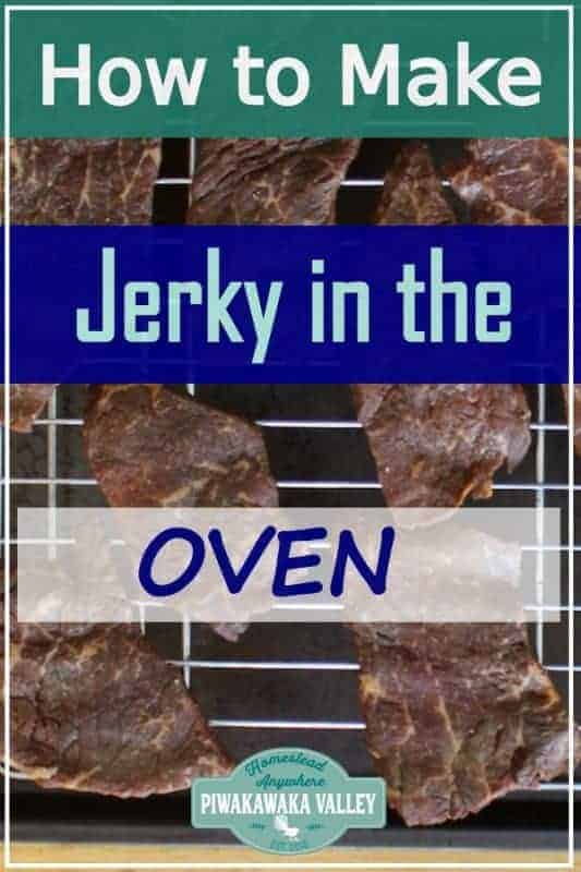 Beef or deer jerky in the Oven. How to make beef or deer jerky at home in the oven, dehydrator or smoker with full instructions step by step and yummy recipe included #piwakawakavalley