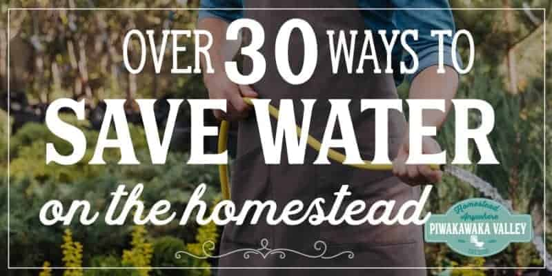 Saving water is a key skill when you are homesteading. Use these useful hacks to conserve water on your farm and reduce your water bill and stay safe in a drought #homesteads #homesteading #piwakawakavalley