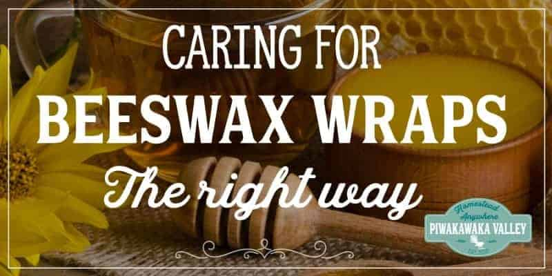 If you have made DIY beeswax food wraps, or you have some that you have bought, to make them last well, you need to care for the correctly. Here are the care instructions for your bees wax food wrap #piwakawakavalley
