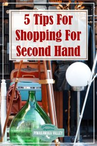 Here are some frugal tips for saving money on household items by buying second hand items. This is a great zero waste way of shopping for new things and upcycling old items and giving them new life! #piwakawakavalley