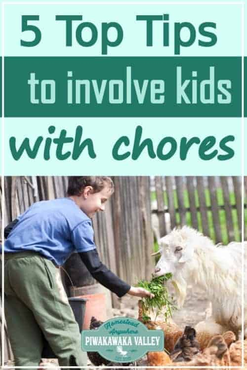 Are you wanting to involve your children more with self sufficient living? Teach your children traditional skills that will help them get ahead in life by getting them to help with the chores on your homestead #piwakawakavalley