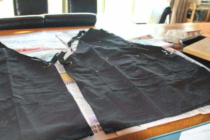 DIY Oilcloth Aprons: How to Waterproof Cotton Canvas