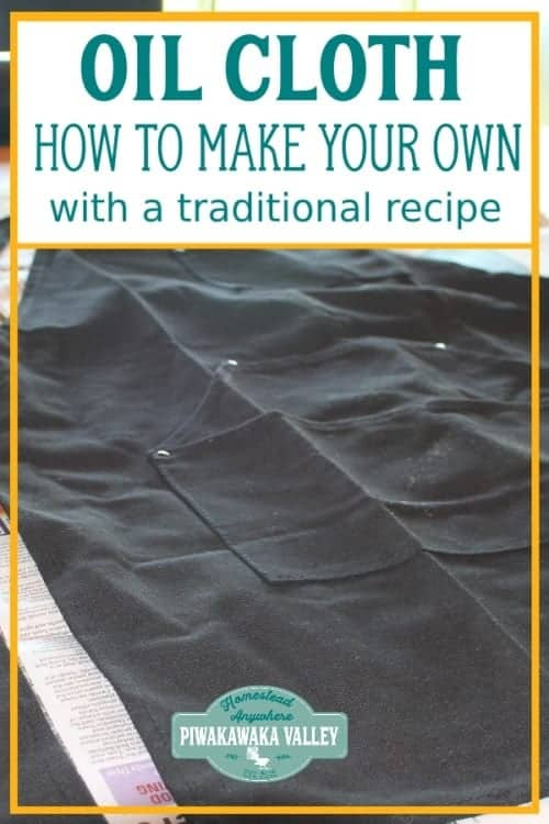 This recipe uses natural ingredients to create a waterproof coating on the fabric of choice. You can use it to waterproof canvas clothing, shoes, bags, tents, leather, even fabric tarpaulins and wood!