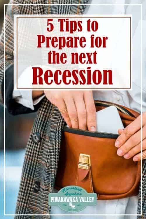top 5 tips to get you recession ready