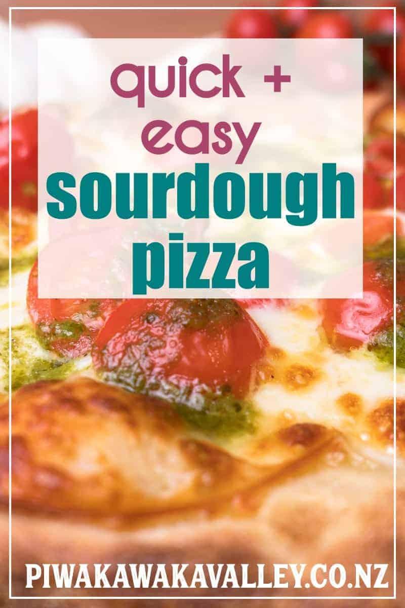 Super easy quick sourdough pizza base recipe