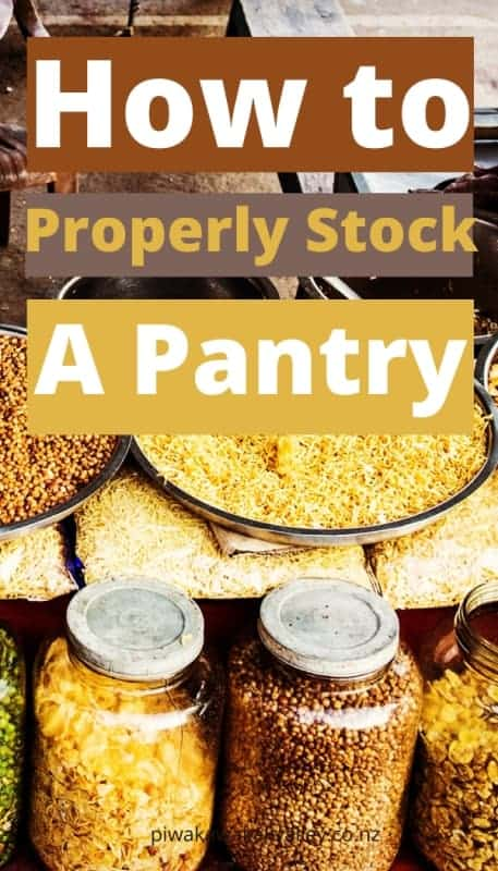 how to stock a homestead pantry