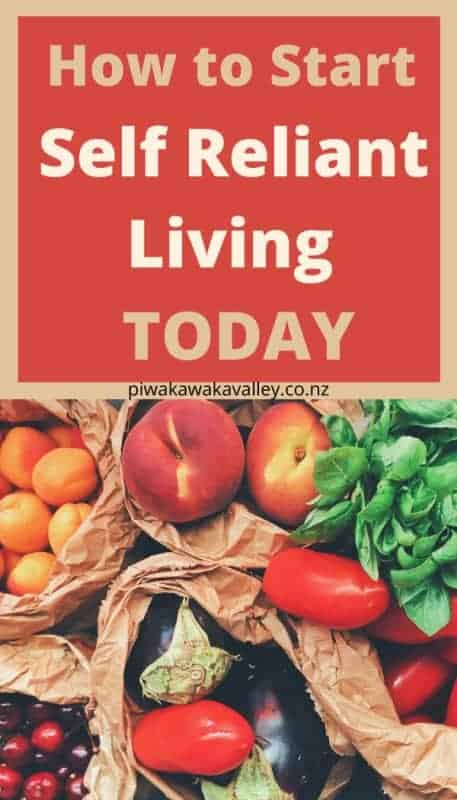 How to start self reliant living today