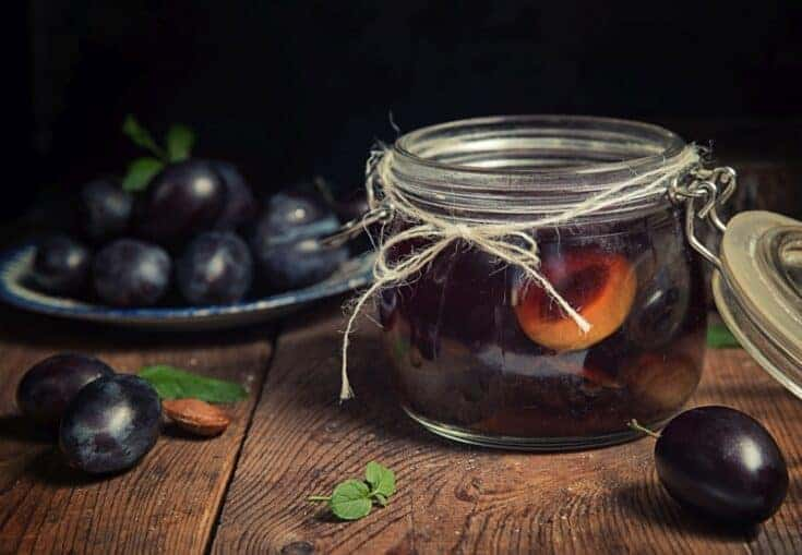 Canned plums: Beginner canning recipe for bottled plums promo image