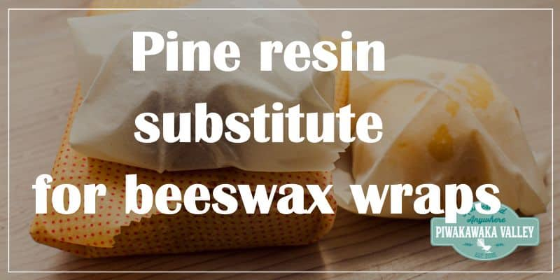 pine resin substitute for beeswax wraps promo image