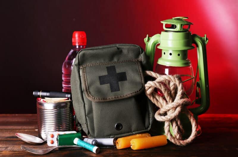 image of bug out bag and self reliance kit