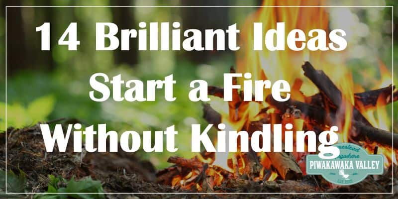 How to start a fire without kindling promo image